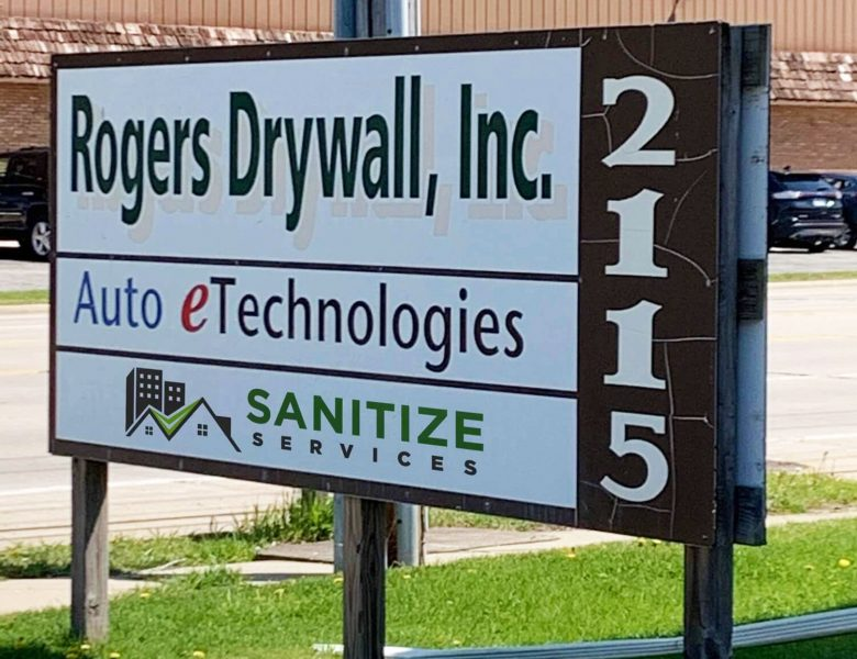 Building Sign - Covid-19 Disinfection - Sanitize Services-Illinois